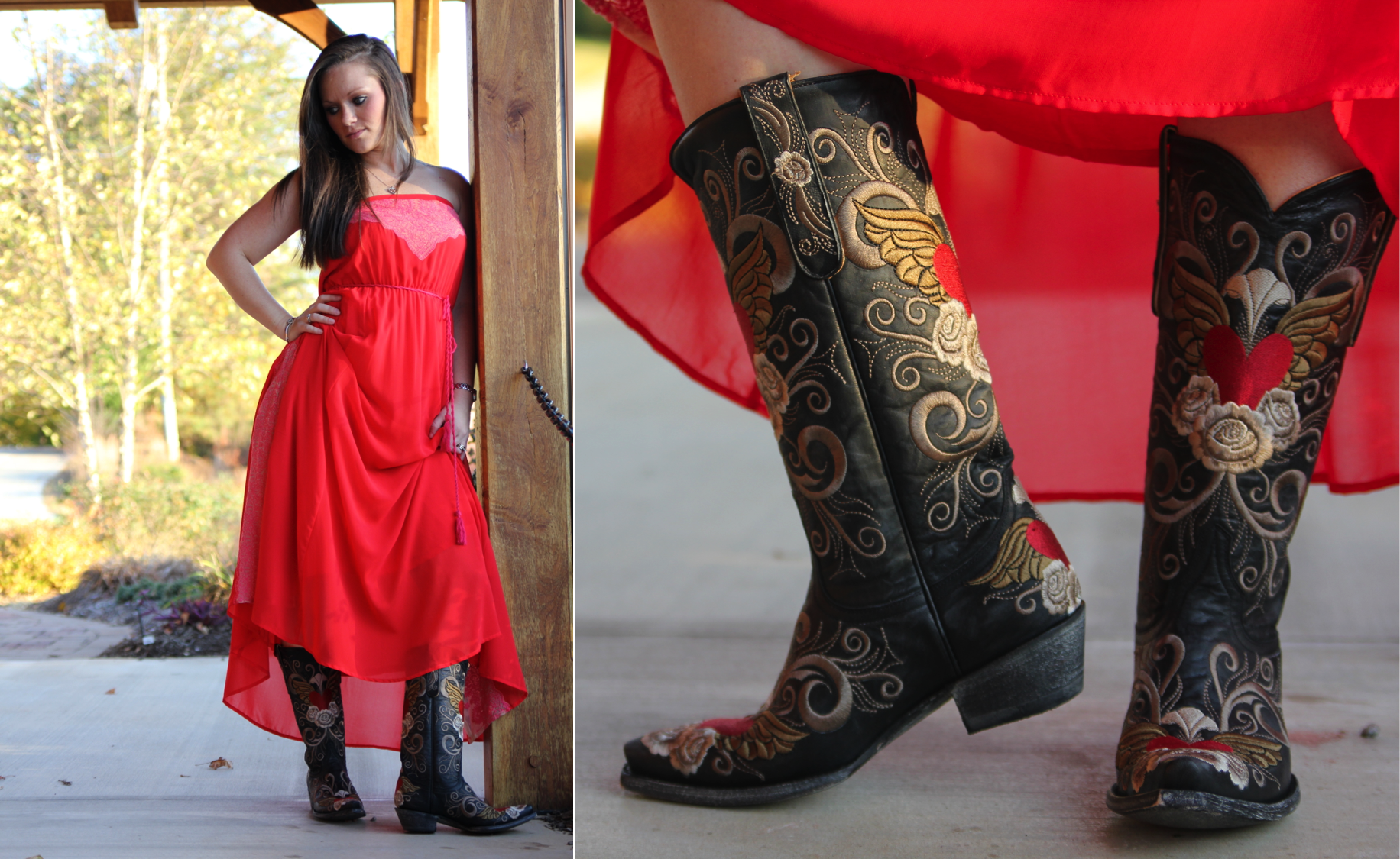 The Maxi Dress and the Cowboy Boot